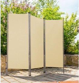 Home & Garden Paravent Sichtschutz Sonnenschutz Trennwand 170x170cm creme 302240114-HE