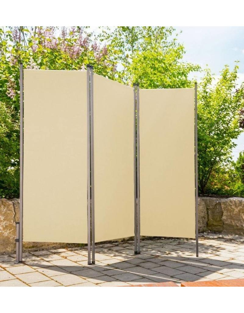 Paravent Sichtschutz Sonnenschutz Trennwand 170x170cm creme