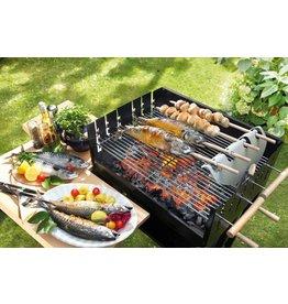Home & Garden BBQ DEVIL 200650119-HE Spießgriller ROMBO für Fisch Geflügel Fleisch