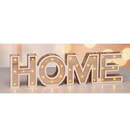 LED Deko Dekoschrift Dekoschild HOME mit 24 warmweissen LEDs 54842