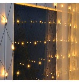 HI LED Lichternetz Lichtervorhang 160LEDs 320x150cm klares Licht für aussen 76047