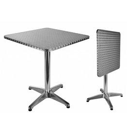 HI Bistrotisch Gartentisch klappbar aus Aluminium eckig 60x60cm 60294