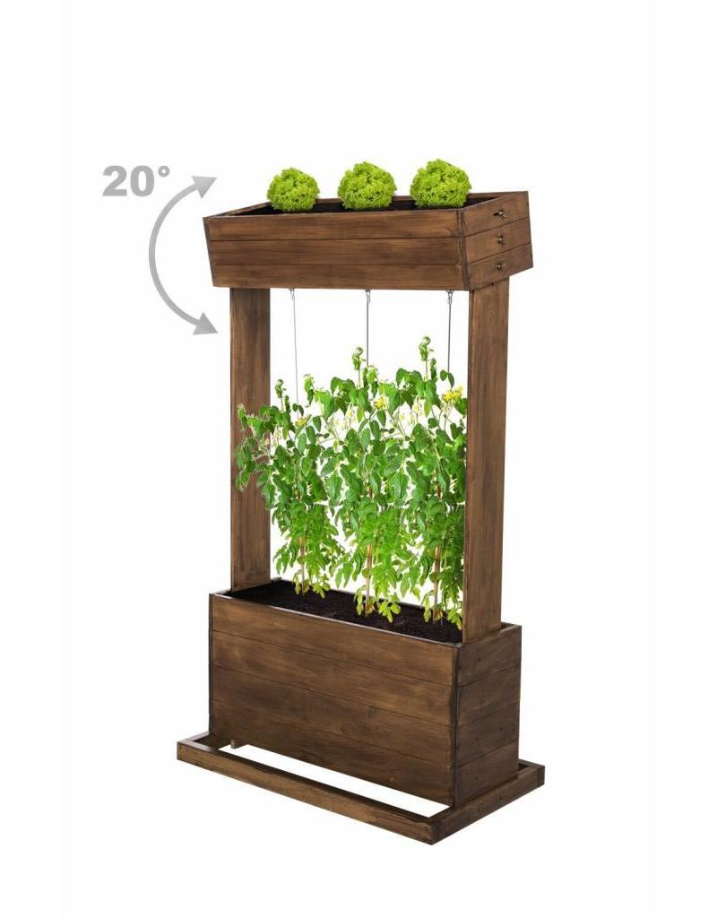 Home & Garden Home & Garden 301970108-HE Hochbeet mit Seilrankhilfen H145cm B50cm aus Holz