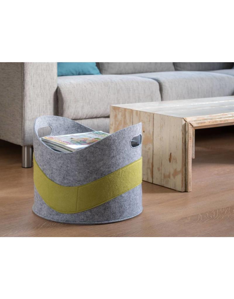 Home & Garden Korb Universalkorb Filz für Feuerholz Spielzeug grau-grün 202090122-HE