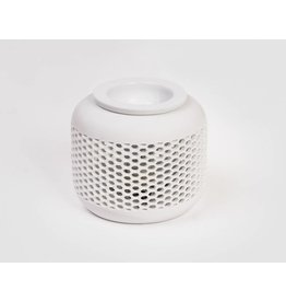 Home & Garden Aromalampe Aromaduftlampe Bienenwabe Keramik weiss 220V 202920201-HE