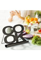 Kochbuchhalter Kochbuchständer schwarz aus Metall auch für Tablet-PC 12267