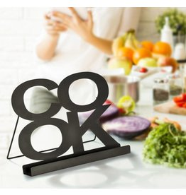 ewega Kochbuchhalter Kochbuchständer schwarz aus Metall auch für Tablet-PC 12267