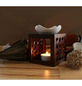 Home & Garden Aromalampe Duftlampe DESERT mit Teelichthalter und Keramikschale 202050208-HE