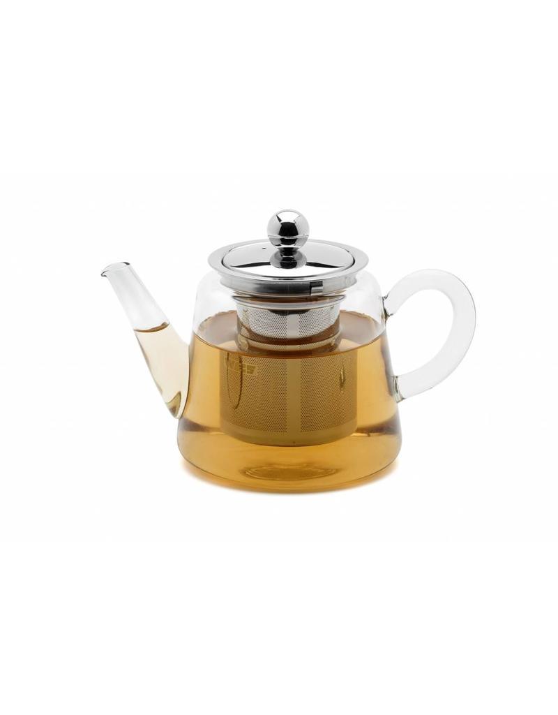 Glas Teekanne weis 178003 mini teekanne aus glas mit edelstahl filter 250ml