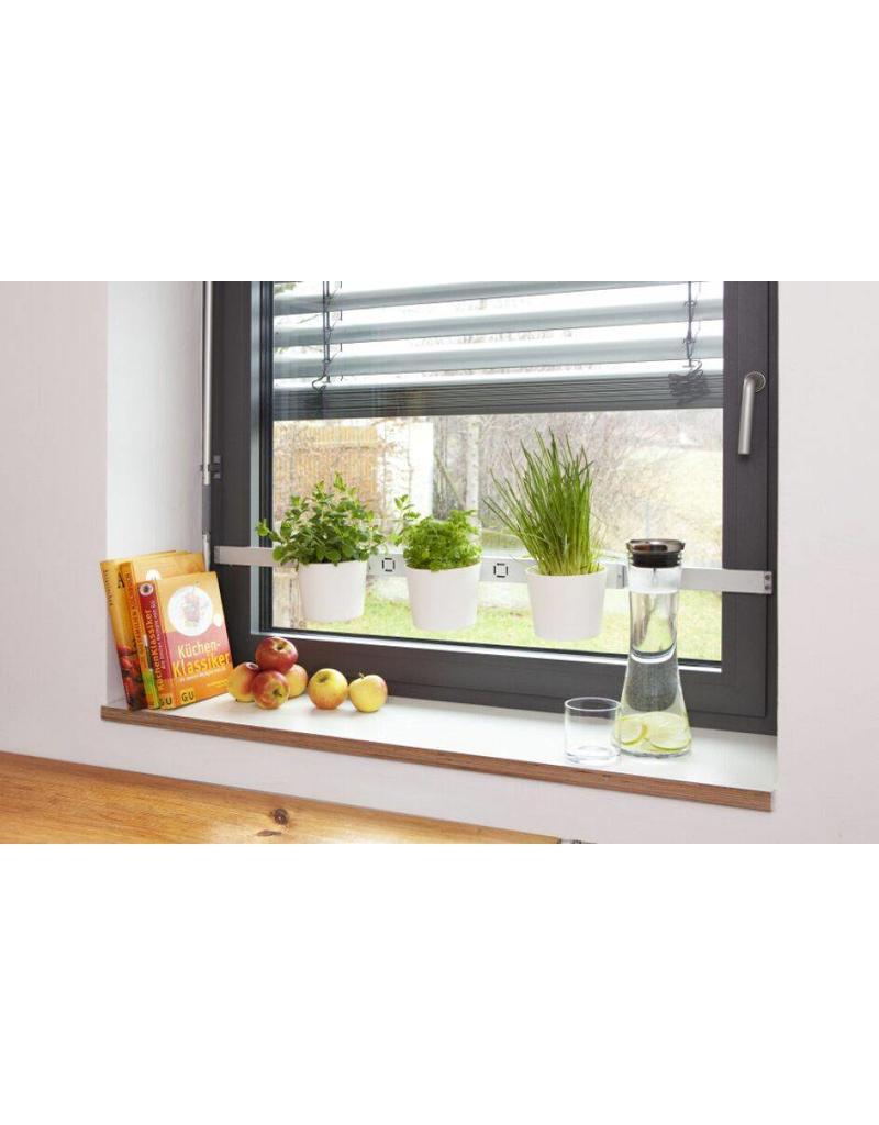 Home & Garden Kräuter- und Pflanzenleiter für Fenster von 72,5-111,5cm weiss 200240201-HE