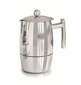 Weis 169834 Edelstahl Espressokocher hochglanzpoliert für 3 bis 4 Tassen