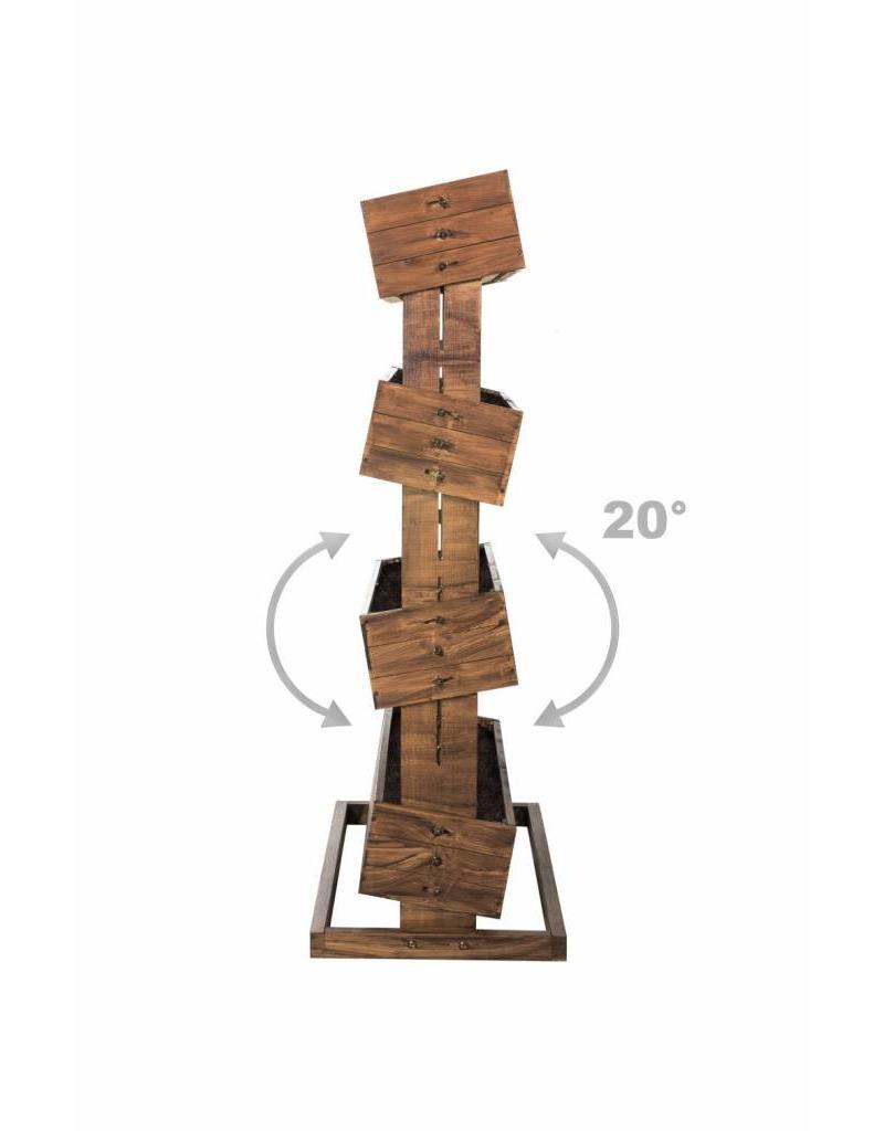 Home & Garden Hochbeet mit vier beweglichen Kästen H45cm B50cm aus Holz 301960108-HE