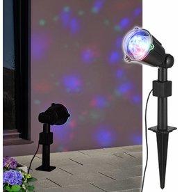ewega LED Partylicht Strahler mit Dreheffekt projiziert tolle Lichteffekte 70300