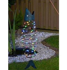 Solarlampe Solarleuchte Solar Hängefisch Fisch 58 bunte LEDs 67cm 70304