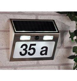 ewega Edelstahl Solar LED Hausnummer 3 LEDs mit Bewegungsmelder 60253