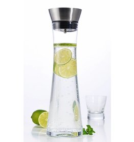 ewega Wasserkaraffe Karaffe Saftkrug Krug aus Glas mit Ausgiesser und Sieb 1L 13081
