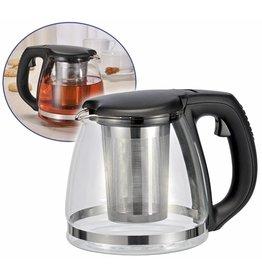 ewega Teekanne 1,2L aus Glas mit Edelstahl Filtereinsatz 16031