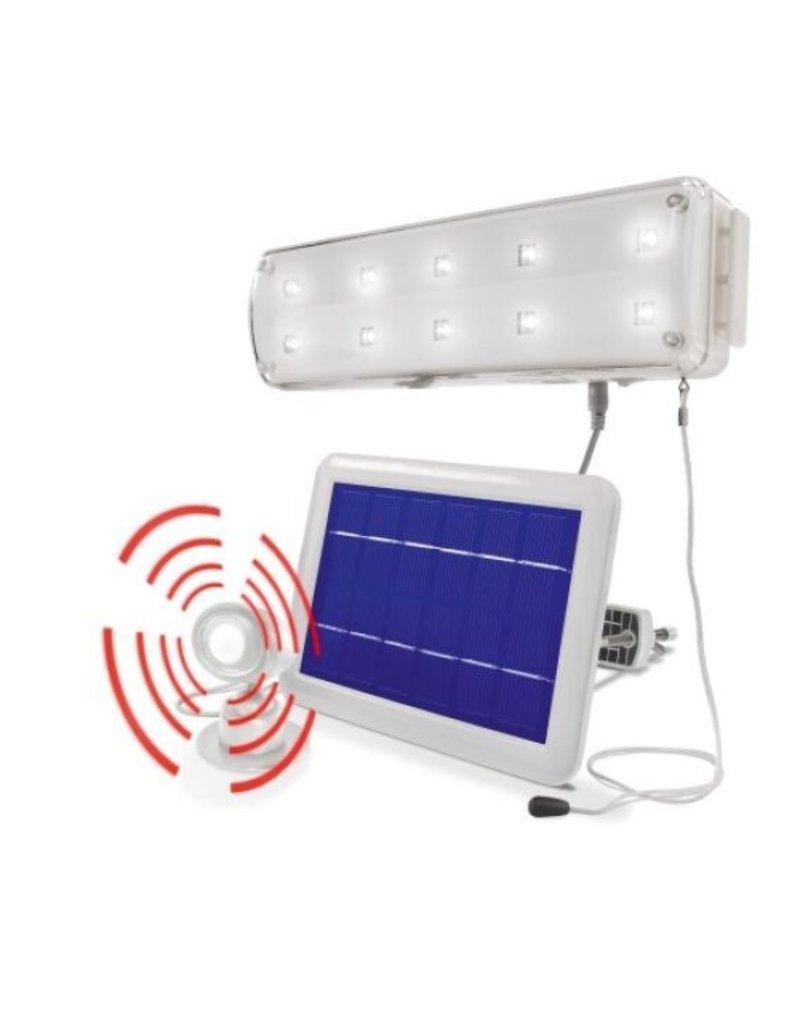 Esotec 102091 Solar LED Lichtsystem 10 LEDs mit Bewegungsmelder kaltweiss