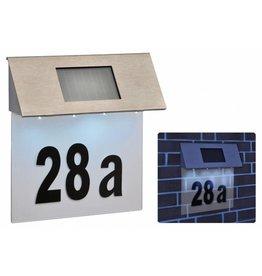 Solar LED Hausnummern Beleuchtung Solarhausnummer 4 LEDs 60224
