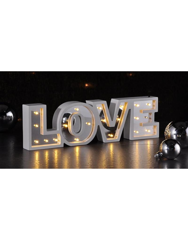 LED Deko Beleuchtung Schriftzug mit Spiegel-Effekt LOVE 54941