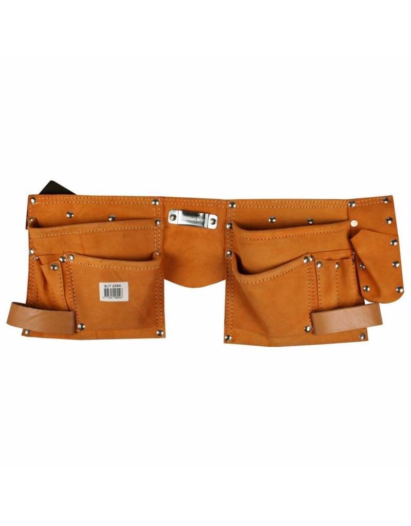 BENSON TOOLS Benson Tools 004365 Leder Werkzeuggürtel mit diversen Taschen und Halteschlaufen