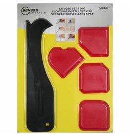 BENSON TOOLS Benson Tools 008787 Silikon-Glätte-Satz 4tlg Silikonglätter Silkonfugen glätten