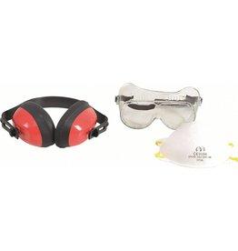 BGS technic Kraftmann 93625 Arbeitsschutz Satz Schutzbrille Gehörschutz Grobstaubmaske