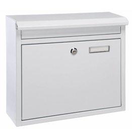 ewega Briefkasten aus Metall weiss mit 2 Schlüssel und Namensschild 60602