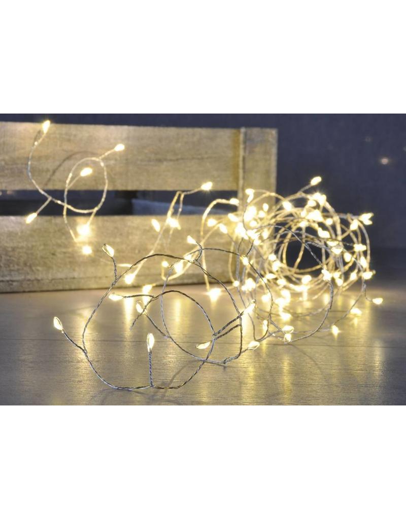 LED Kupferdraht Lichterkette 100 LEDs warmweiss 76630 - ewega ...