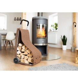 Home & Garden Filztrolley Trolley Transportroller für Kaminholz braun 202140102-HE