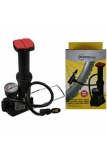 Benson 008494 Mini Fußluftpumpe Fußpumpe Fahrradpumpe mit Adapter