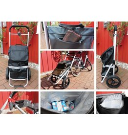 Westerholt Fahrrad Shopper Trolley Einkaufsroller mit Kupplung 2435