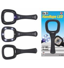 Kraftmann 85865 Handlupe mit LED und UV Licht 60mm