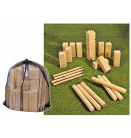 Kubb Outdoor Spiel Geschicklichkeitsspiel aus Holz 66145