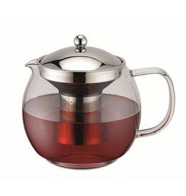 Weis Weis 17055 Teekanne aus Glas und Edelstahl mit Sieb 1,5 Liter