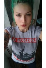 Useless No Borders, No Fences - T-Shirt grau