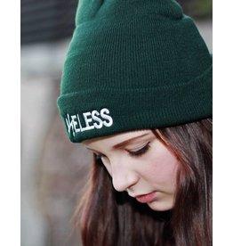 Useless Useless gesticktes Logo - Beanie grün