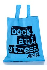 Abfukk Abfukk, Bock auf Stress - Tasche blau
