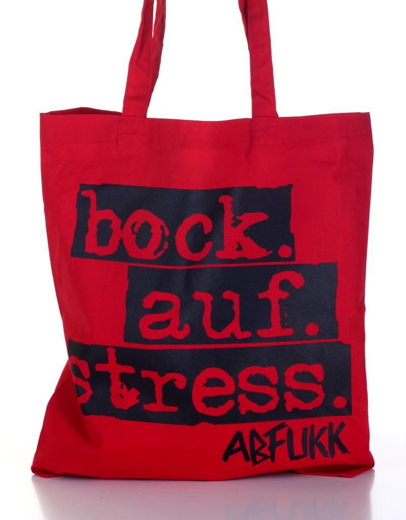 Abfukk Abfukk, Bock auf Stress - Tasche rot