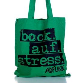 Abfukk Abfukk, Bock auf Stress - Tasche grün