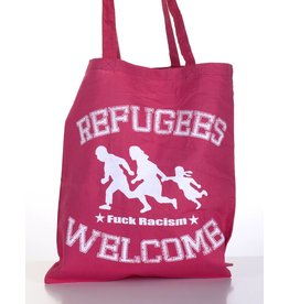 Useless Refugees Welcome - Tasche cranberry