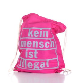 Useless Kein Mensch ist illegal - Gymbag pink