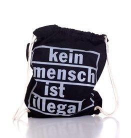 Useless Kein Mensch ist illegal - Gymbag schwarz