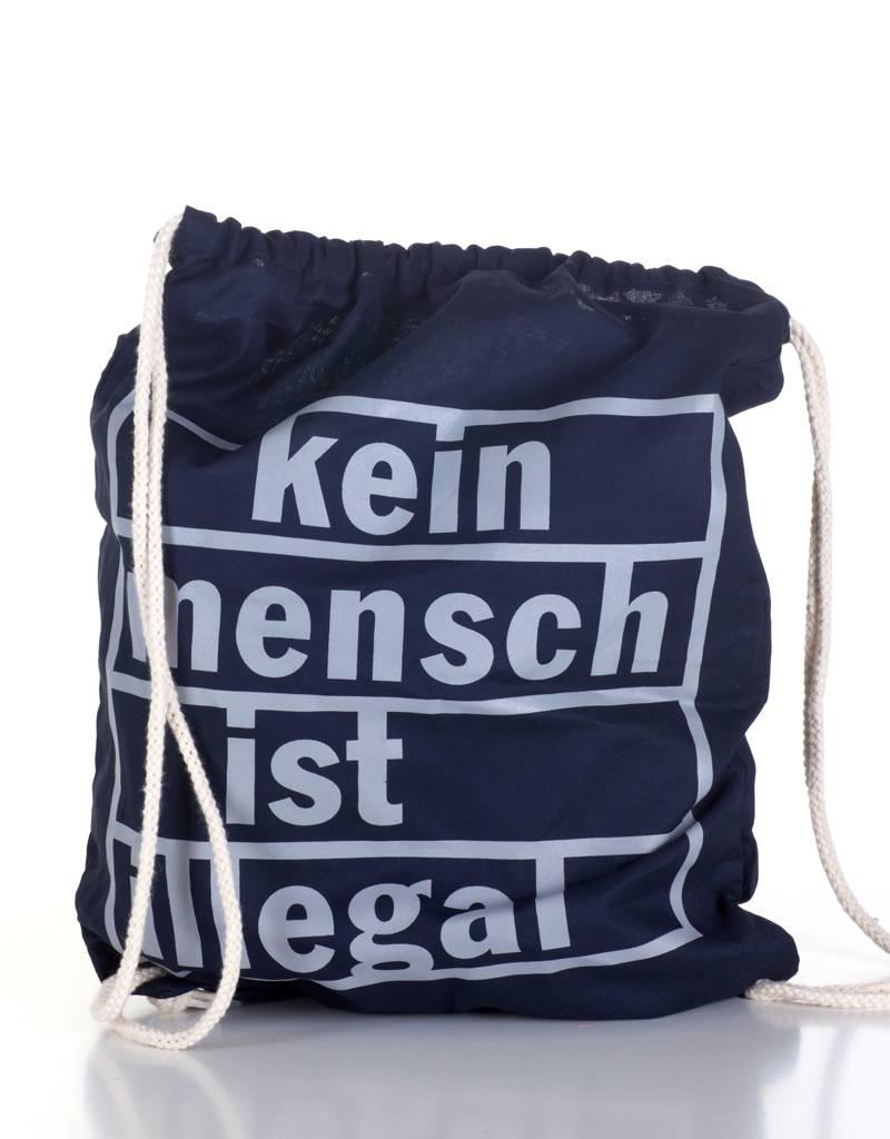 Useless Kein Mensch ist illegal - Gymbag navy