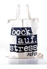 Abfukk Abfukk, Bock auf Stress - Tasche natural