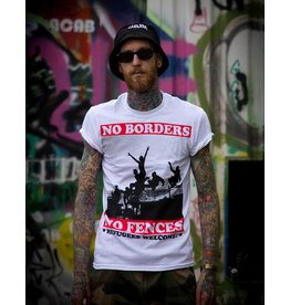 Useless No Borders, No Fences - T-Shirt weiß