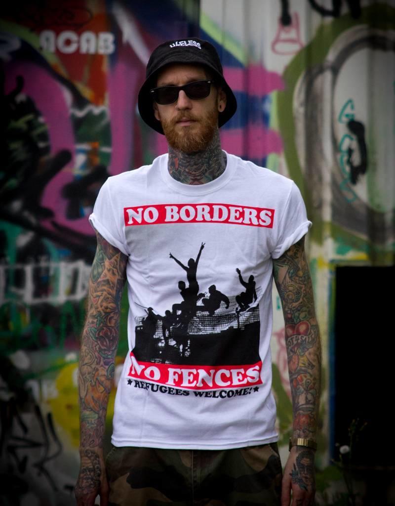 Useless No Borders, No Fences - T-Shirt weiß