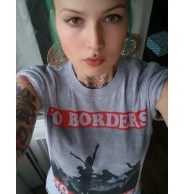Useless No Borders, No Fences - T-Shirt grau