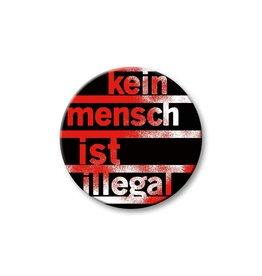 Kein Mensch ist illegal - Button 'rot'