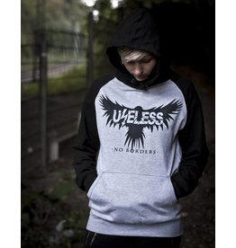 Useless No Borders Crow - Unisex College Hoodie